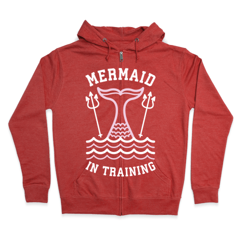 Mermaid In Training Zip Hoodie