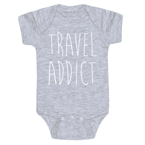 Travel Addict Baby Onesy