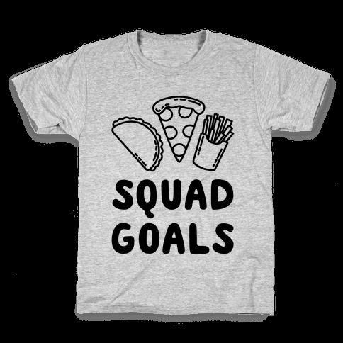 Junk Food Squad Goals Kids T-Shirt
