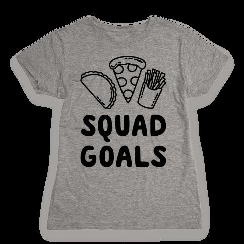 Junk Food Squad Goals Womens T-Shirt