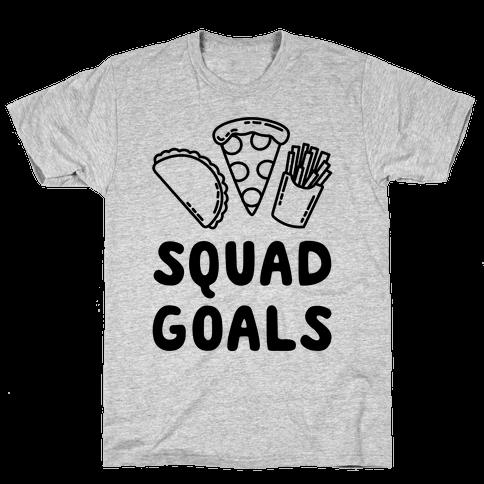 Junk Food Squad Goals Mens T-Shirt