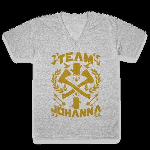 Team Johanna V-Neck Tee Shirt