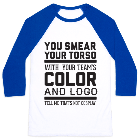 Sports Cosplay (large text) Baseball Tee