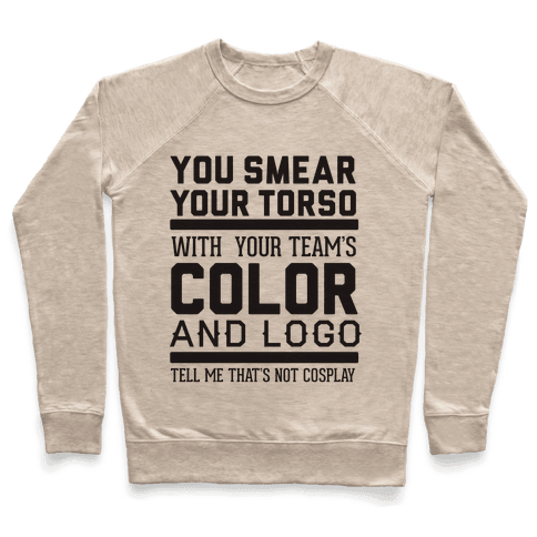 Sports Cosplay (large text) Pullover