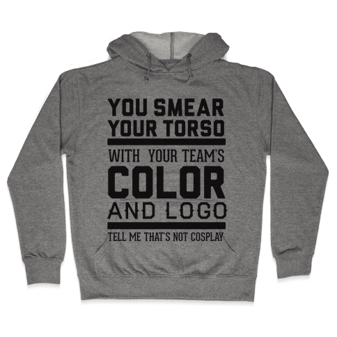Sports Cosplay (large text) Hooded Sweatshirt