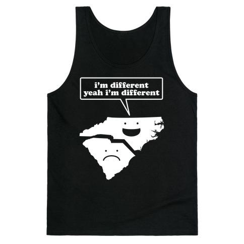 North Carolina: I'm Different Tank Top