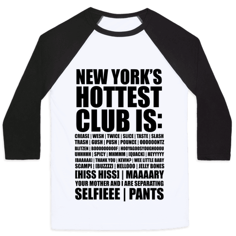 New York's Hottest Club Is (tank) Baseball Tee