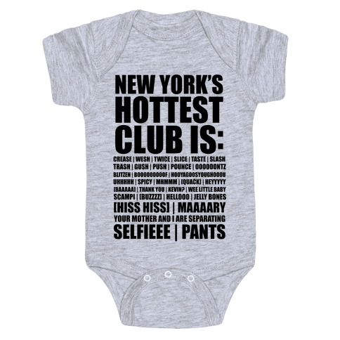 New York's Hottest Club Is (tank) Baby Onesy