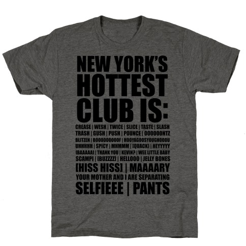 New York's Hottest Club Is (tank) T-Shirt