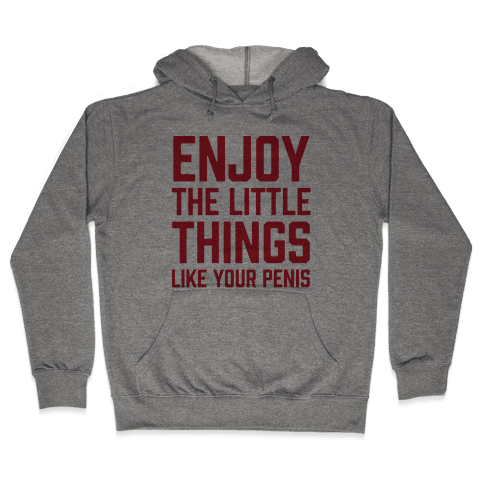 Enjoy The Little Things Like Your Penis Hooded Sweatshirt