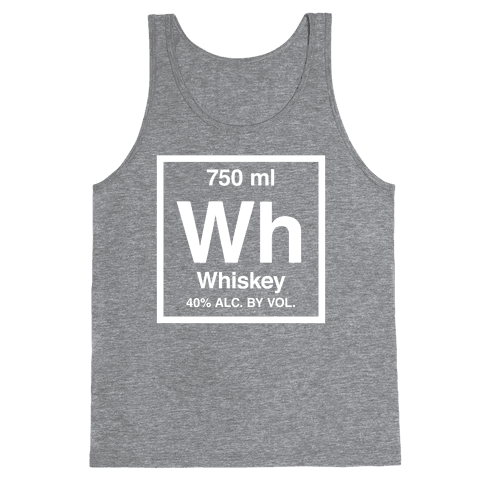 Whiskey Element (Periodic Alcohol) (White Ink) Tank Top