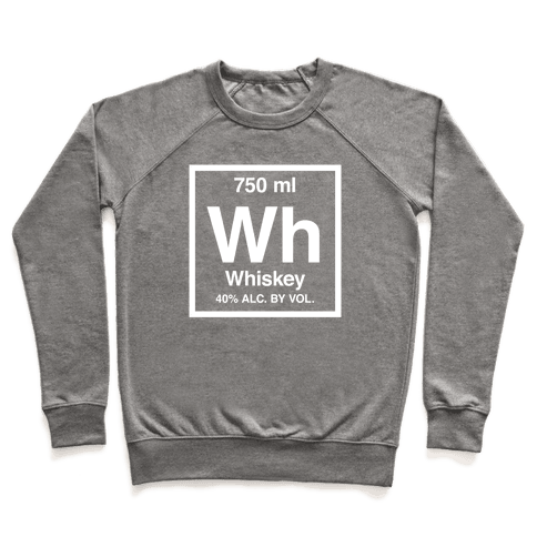 Whiskey Element (Periodic Alcohol) (White Ink) Pullover