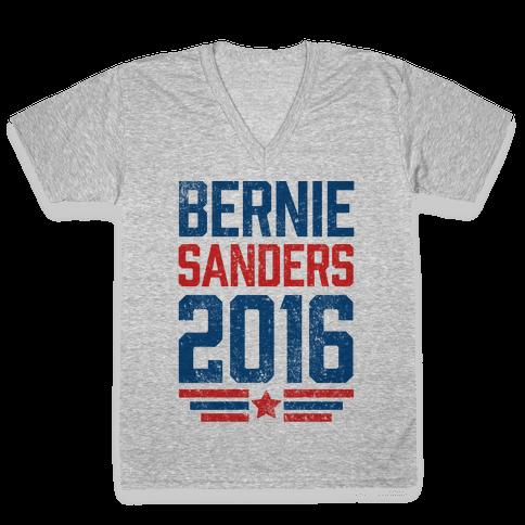 Bernie Sanders 2016 V-Neck Tee Shirt