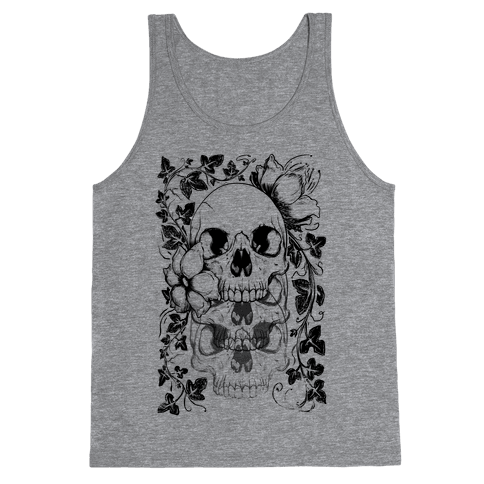 Skull of Vines and Flowers Tank Top