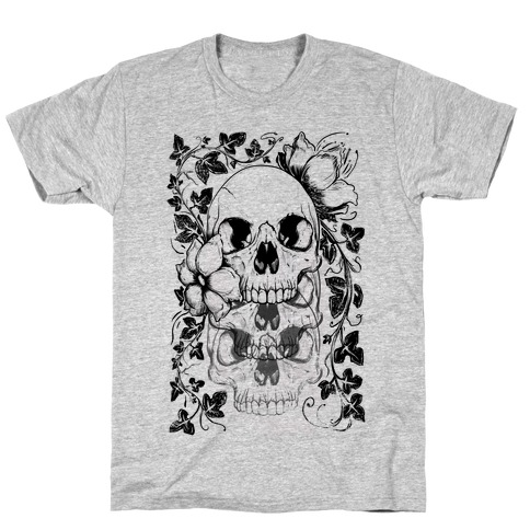 Skull of Vines and Flowers T-Shirt
