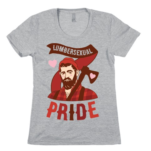 Lumbersexual Pride Womens T-Shirt