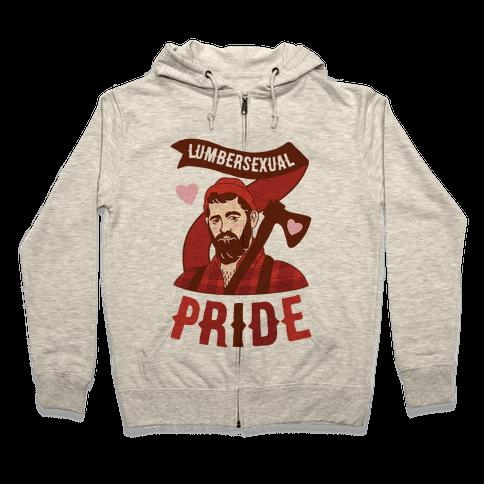 Lumbersexual Pride Zip Hoodie