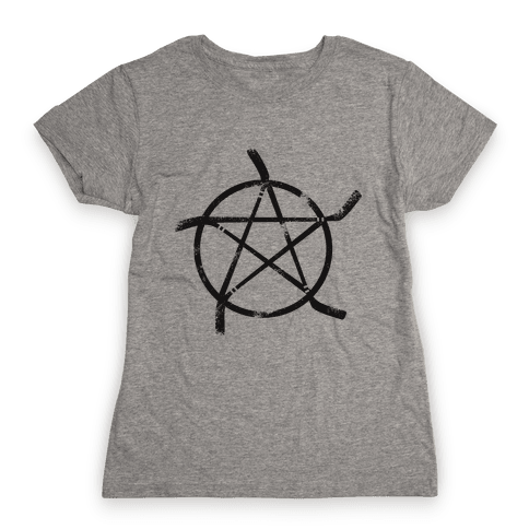 Hockey Stick Pentagram Womens T-Shirt