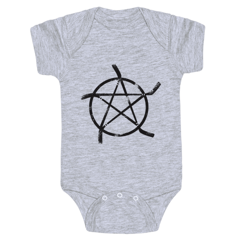Hockey Stick Pentagram Baby Onesy
