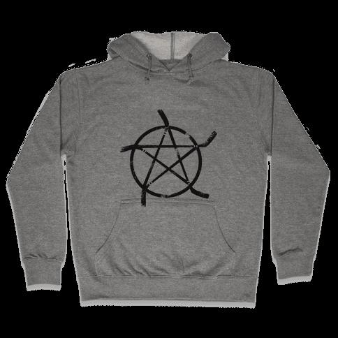 Hockey Stick Pentagram Hooded Sweatshirt