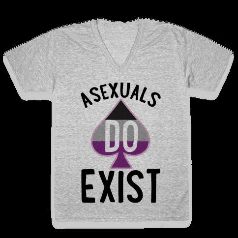 Asexuals Do Exist V-Neck Tee Shirt