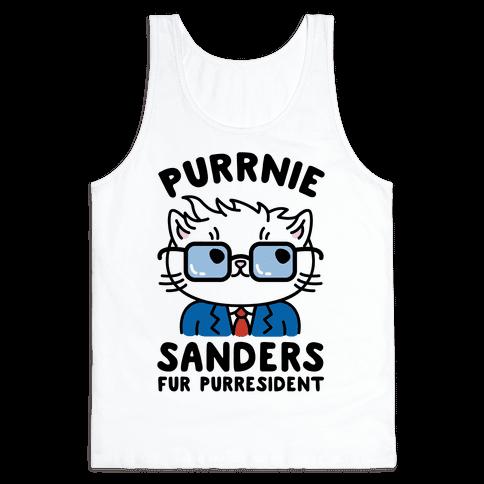 Purrnie Sanders Fur Purresident Tank Top