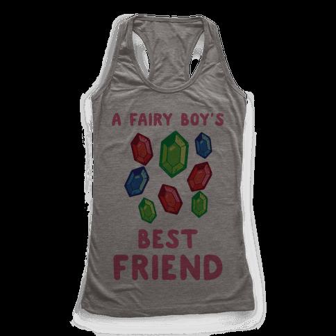 A Fairy Boy's Best Friend Racerback Tank Top