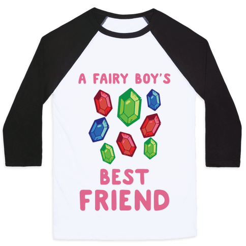 A Fairy Boy's Best Friend Baseball Tee