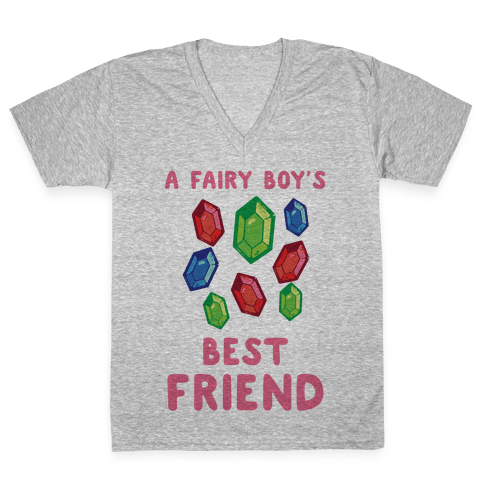 A Fairy Boy's Best Friend V-Neck Tee Shirt