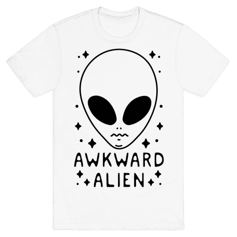 Awkward Alien Mens T-Shirt