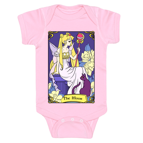 The Moon Tarot Baby Onesy