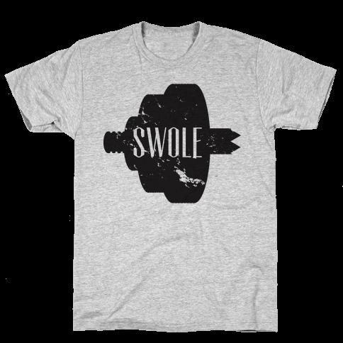 Swole Mates (Swole Half) Mens T-Shirt