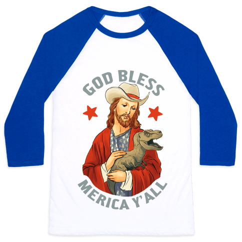God Bless Merica Y'all Baseball Tee