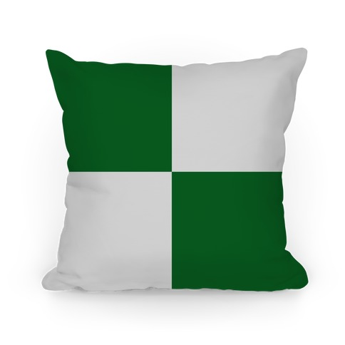 Slytherin House Color Block Pattern Pillow