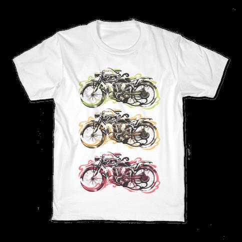 Vintage Motorbike Kids T-Shirt
