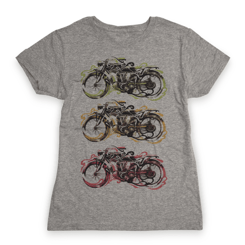 Vintage Motorbike Womens T-Shirt