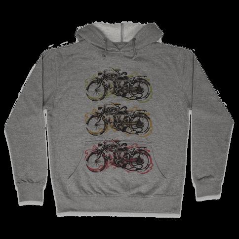 Vintage Motorbike Hooded Sweatshirt