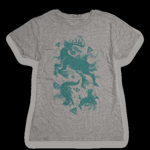 Harry Potter Patronus Pattern Womens T-Shirt