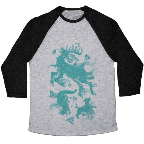 Harry Potter Patronus Pattern Baseball Tee