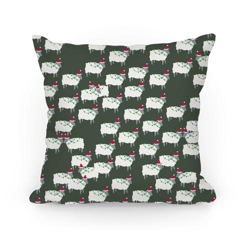 Fleece Navidad Sheep Army Pattern