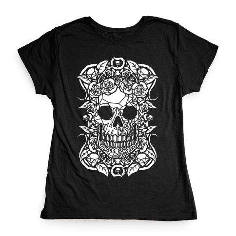 Punk Diamond Skull Womens T-Shirt