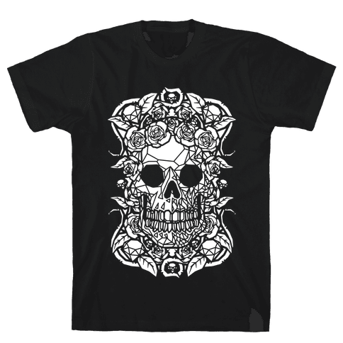 Punk Diamond Skull Mens T-Shirt