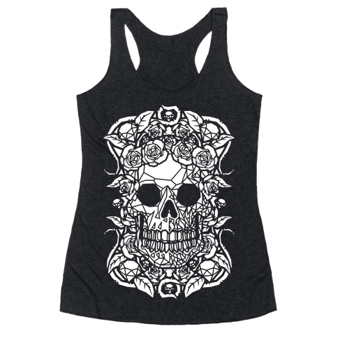 Punk Diamond Skull Racerback Tank Top