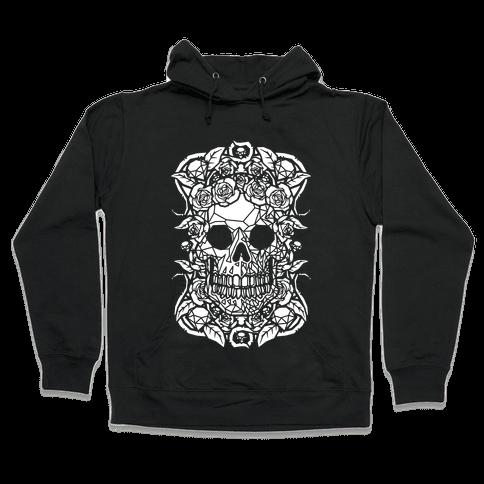 Punk Diamond Skull Hooded Sweatshirt