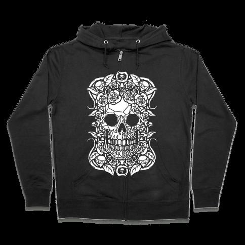 Punk Diamond Skull Zip Hoodie