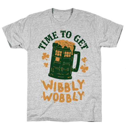 Time to Get Wibbly Wobbly Mens T-Shirt