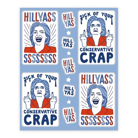 Hill Yasss Sticker and Decal Sheet