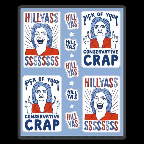 Hill Yasss Sticker/Decal Sheet