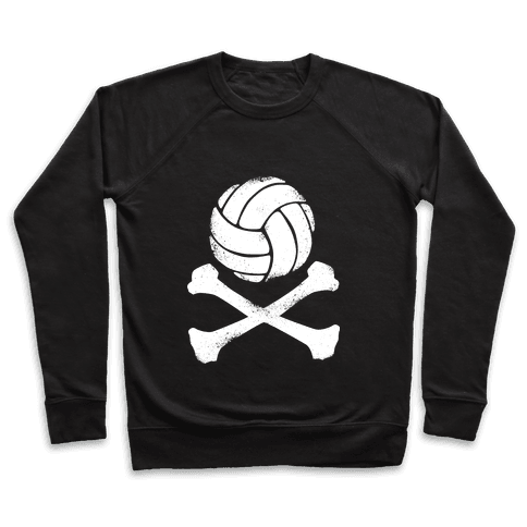 Volleyball and Crossbones (White Vintage) Pullover