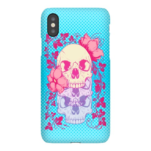 Skull of Vines and Flowers Phone Case